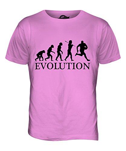 CandyMix Australian Football Evolution Des Menschen Herren T Shirt Rosa