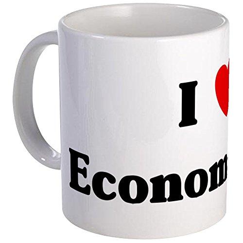 CafePress–I love ökonometrie–Tasse, keramik, weiß, S