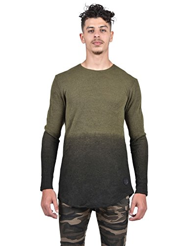 Tee shirt manche longue tie and dye Homme Project X Paris - XL, Kaki