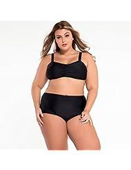 yueyue & FA Plus Negra Tamaño de alta cintura Bikini–Traje de baño, color negro, tamaño XXXL