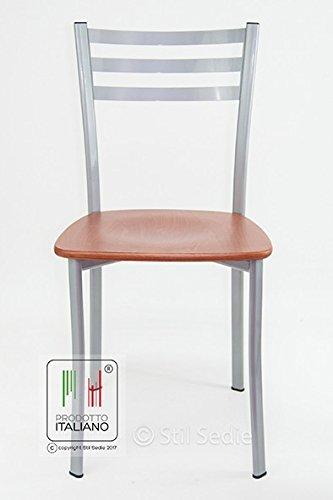 Stil sedie - sedia cucina modello flora seduta in legno multistrato