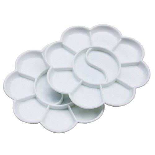 Geshig-5 Stück/Packung in Blumenform, 10 Brunnen aus Kunststoff, Aquarell-Palette multi