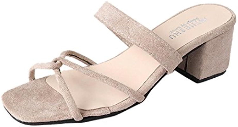 d886e09ac69 Lolittas Ladies Ladies Ladies Sandals Summer High Block Heel Roman Gladiator  Black Strappy Open Toe Evening Sandal Size 2-5 B07D8PHBMZ Parent c7059c