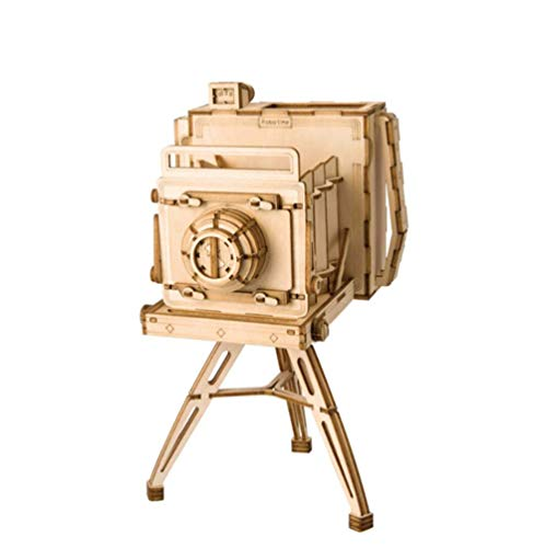 XSWE Holzpuzzle Dekoration, Puzzle Handmade 3D Puzzle Retro Camera,3D Holz Graving Modell Jigsaw Puzzle (Made Puzzles Hand)
