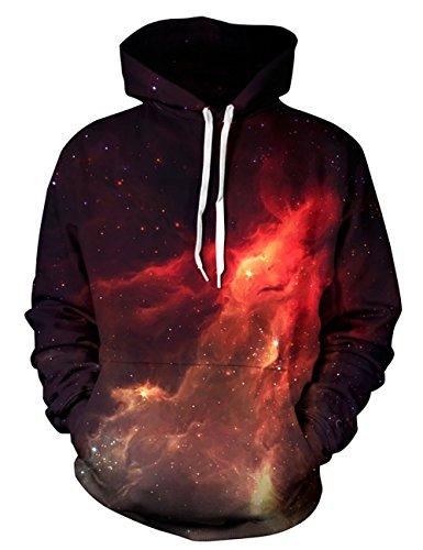 puzenpullover 3D Druck Muster Hoodie Weihnachten Halloween Sweatshirt Pullover (L / XL, Flamme) (Halloween Für Weniger)
