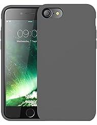 """First2savvv gris Slim Fit Silicona iPhone 7 4.7"""" Choque Absorbente Funda Carcasa Case Bumper con Absorción de Impactos Case Cover - XJPJ-I7-4.7-C11"""