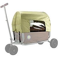 Verdeck (nur faltbares Dach - nicht der Bollerwagen), Farbe beige, für den faltbaren Bollerwagen Beachtrekker LiFe