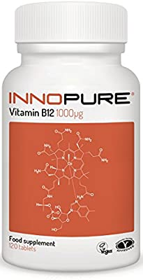 Vitamin B12 Methylcobalamin 1,000mcg (ug) | Vegan, Vegetarian Society Approved | 1 a Day Easy to Swallow Tablets | 4 Month Supply, 120 Tablets from Innopure