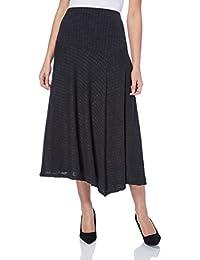 Roman Originals Women's Asymmetric Midi Skirt