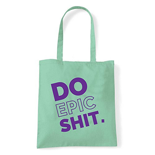 Art T-shirt, Borsa Shoulder Do Epic Shit, Shopper, Mare Menta