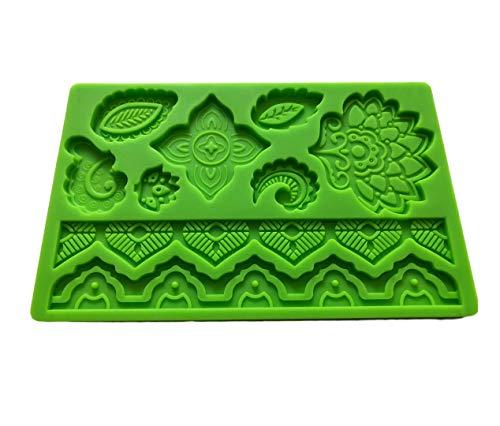 SWEET CANDY BAKERY Torten Fondant 3D Form aus Silikon Frühling Muster Silikon Ausstecher Torten-Dekoration Schokoladen-Form Meer Urlaub Sommer