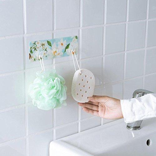 wuayi 4stark Saugnapf Sucker Blumen Haken Aufhänger für Küche Badezimmer Wand (Reise-mason-jar-glas)