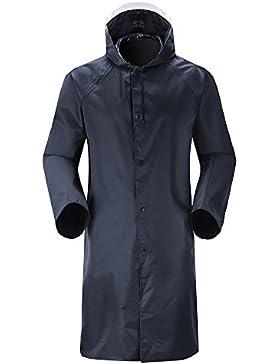 Insun Unisex Hombres y Mujeres Chubasquero Impermeable Abrigo Poncho Protección Resistente a Lluvia Chaqueta Con...