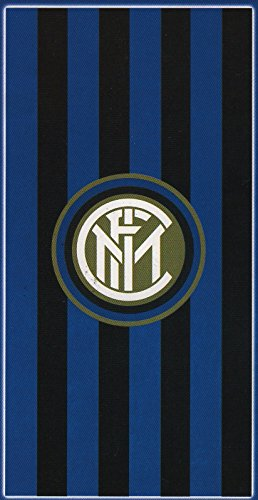 Inter 8934 272 2120 telo mare in spugna, 100% cotone, nero/azzurro, 140 x 70 x 1 cm
