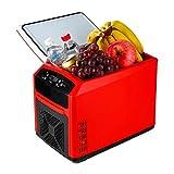 Jiongzhuo Weißer Touch-Auto-Kühlschrank Intelligente Digitalanzeige kann beheizt und gekühlt Werden. Auto-Zuhause Dual-Use-Kleiner Kühlschrank Schlafsaal Car Kleiner Kühlschrank Rot