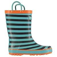 Cotswold Captain Wellington Boots Infants Boys Blue Stripe Wellies Gum Boots