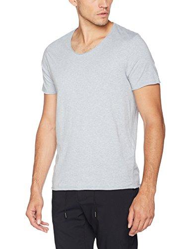 SELECTED HOMME Herren T-Shirt Shnnewmerce Melange Ss O-Neck Tee Noos Blau (Skyway)