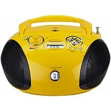 Grundig RCD 1445 - Radio CD (30 W, USB, 10 presintonías), color amarillo y negro