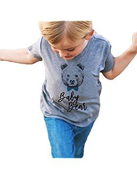 Juleya Camiseta a juego con la familia Lazo de dibujos animados oso mamá papá niños camiseta de bebé Tops