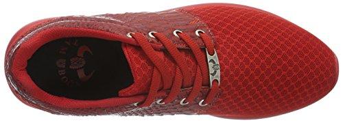 Tamboga Unisex-Erwachsene 111 Kroko Low-Top Rot (Red 02)