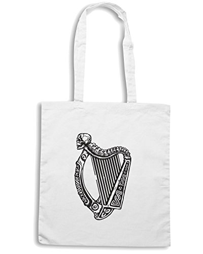 cotton-island-borsa-shopping-tir0253-irish-harp-with-skull-taglia-capacita-10-litri