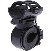 akimgo (TM) 360gradi girevole testa torcia Mount LED Torcia Luce Anteriore Bicicletta Holder Clip in gomma per diametro 28–40mm mbi-31