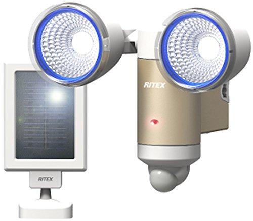 Direct Sales Musashi RITEX LED-Sensor-Leuchte, solarbetrieben, mit farbigen Linsen und regenfestem Notebook