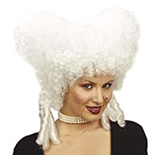 Ladies Baroque Noblewoman White Wig for Hair Accessory Fancy Dress