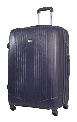 Valigia di grandi dimensioni 75 centimetri - alistair airo - abs ultra leggero - 4 ruote (nero grigio)