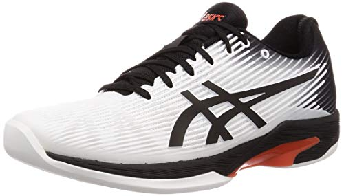 ASICS Herren Solution Speed Ff Indoor 1041A110 Tennisschuhe, Weiß (White 1041A110-102), 43.5 - Indoor Herren Tennisschuhe Asics