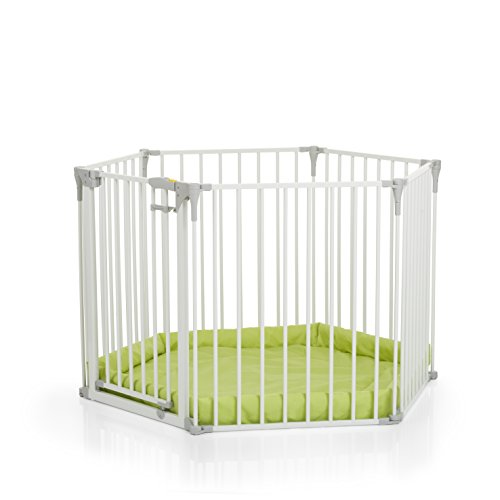 Hauck 597040 Baby Park, Barriera Modulare Composta da 6 Elementi, Bianco