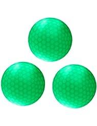 Sharplace 3 Pcs de Pelota Bola de Golf Noche con LED Verde Oscuro Tamaño Oficial