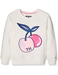 Tommy Hilfiger S Applique Cn Hwk L/S, Sweat-Shirt Fille