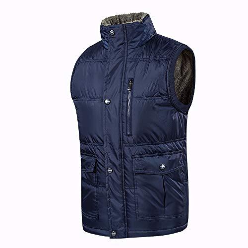 Oeak Gilet Doudoune Veste Homme Hiver Large Chaud Epaisse sans Manche Grande Taille Automne Fashion Col Monta