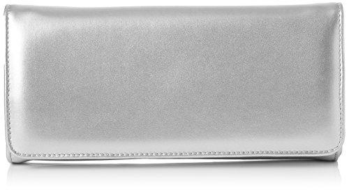 Van Dal Damen Genova Tasche, Silberfarben, One Size (Flap Clutch Front)