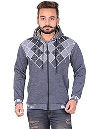 GDS Men Cotton Hoodie Full Sleeve Zipper Sweatshirt