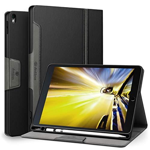 Antbox iPad Pro 10.5 Hülle mit Apple Pencil Halter Auto Schlaf/Wach Funktion PU Ledertasche Schutzhülle Smart Cover für iPad Pro 10.5