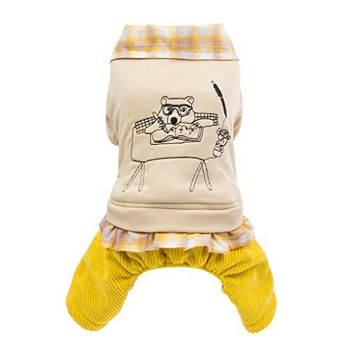 Kleine Haustier Hund Pullover Soft Bequem Sweatshirt Bekleidung Mini Hündchen Welpe Winter Warme Süß Sweater für Teddy Mops - Shih Tzu Im Teddy Kostüm