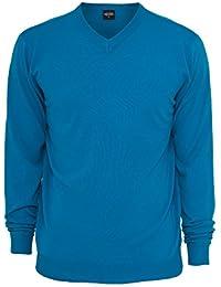 Urban Classics Knitted V-Neck Long Sleeve Shirt Streetwear Men