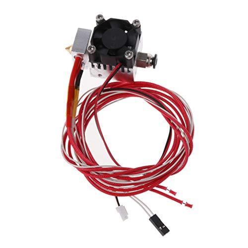 JENOR 3D Drucker Teile Aluminium Extruder Mount Extruder Kopf Montiert Druckkopf Extrusion Mit Lüfter Für PLA/ABS Filament 1.75mm -