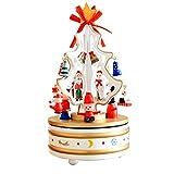Weihnachten Dekoration Fantasy Christmas Holzspieluhr weiß Aufhängen Deko für Zuhause, Kaminsims, Weihnachten