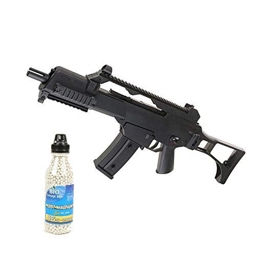 well Airsoft Pack G36C Rifle de Asalto eléctrico, Botella de 2000 Bolas...