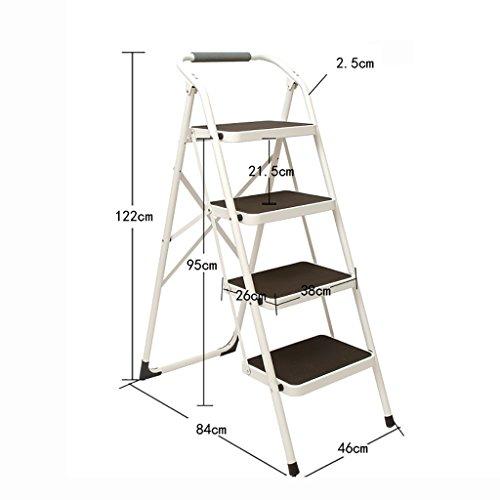 Stufenhocker, europäische Art Einfache Dreifarbig, Leiter 4-Stufen-Haushalt Klappleiter...