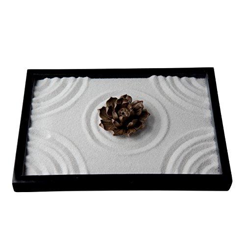 il kit del mini giardino zen di loto del marchio icnbuys regala il rastrello, lo strumento pincha e il pennello di bambšŽ