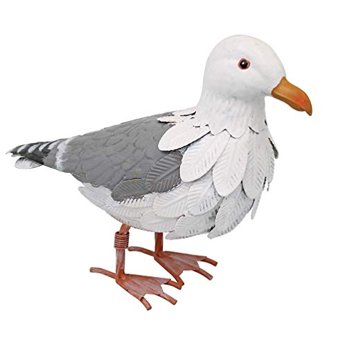 Möwe Ornament (Seagull Garten Ornament Seaside Dekoration Vogel Outdoor Metall handgefertigt)