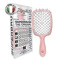 Superbrush Detangler Hair Brush Baby Pink/White