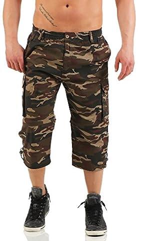 malito Cargo Shorts im Camouflage-Look Bermuda MK310 Herren oliv L