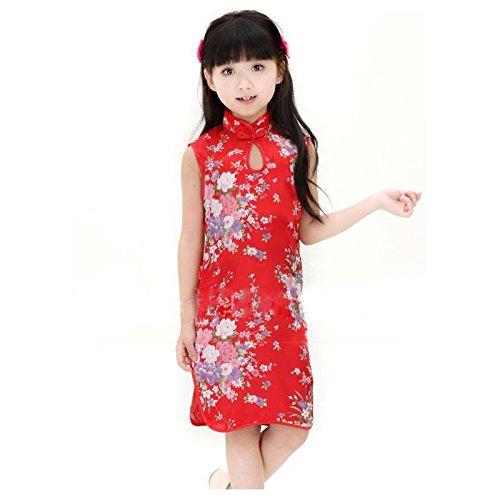 Kleid Chinesische Kostüm Outfit Kinder, Baby 0bis 12Jahre 1/2Jahre, 2/4Jahre, 10/12Jahre, 4/6Jahre, 6/8Jahre, (Chinesisches Kostüme)