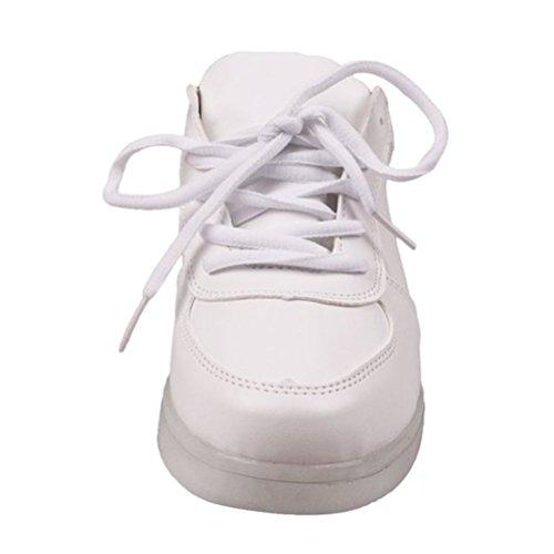 (Present:kleines Handtuch)JUNGLEST® 7 Farbe USB Aufladen LED Leuchtend Sport Schuhe Sportschuhe Sneaker Turnschuhe für Unisex-Erwa c30