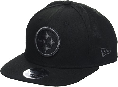 New Era Herren 9FIFTY Snapback Metallic Mark Pittsburgh Steelers NFL Cap, Black